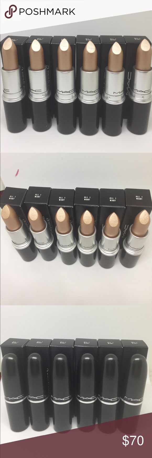 💄💄MAC Frost Lipstick  Bundle of 6💋💋 MAC Frost Lipstick  Color-All I want  Quantity=6 Brand New and Authentic MAC Cosmetics Makeup Lipstick