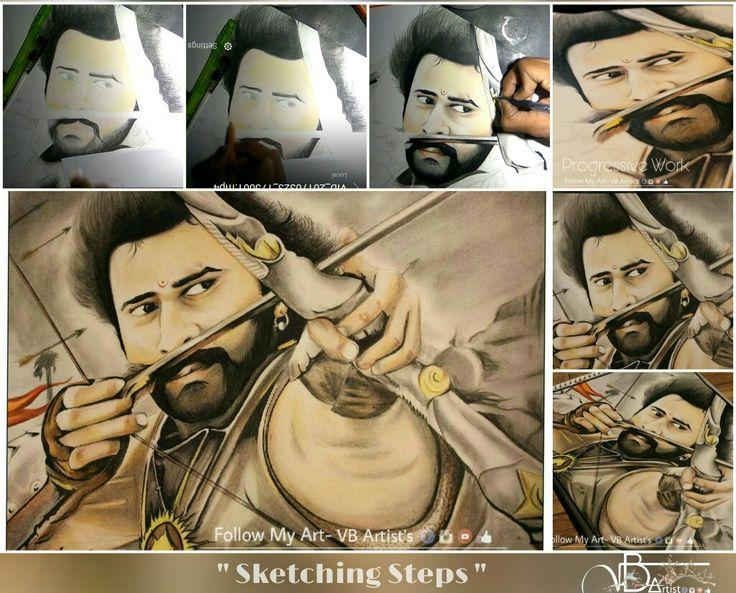 Sketching steps- @vb_artist (Duration- 8:45 hrs) #Bahubali #Bahubali2 #prabhashraju #prabhash #Dharama #dharmaproduction #filmposter #bahubali #poster #keep_supporting #Bhopal #like #comment #tag_your_friends #share #google @PrabhasRaju sir @bahubali2movie  Youtube live video- https://youtu.be/65WLUt98iQw