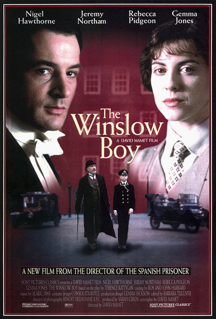 17 best images about film i ve seen 1990 1999 city official theatrical movie poster of for the winslow boy directed by david mamet starring rebecca pidgeon nigel hawthorne jeremy northam guy edwards