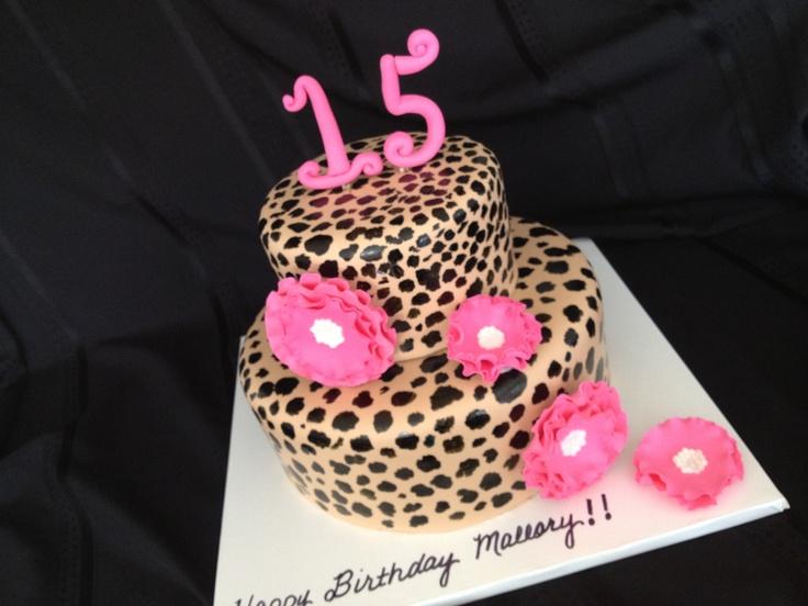38 Best Cakes Images On Pinterest Cheetah Print Cakes Leopard