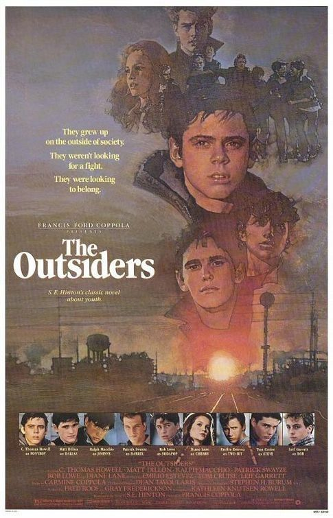 """The Outsiders (1983) In 1966 Tulsa, teenagers come two ways. If you're a """"soc"""", you've got money, cars, a future. But if you're a """"greaser"""", you're an outsider with only your friends... and a dream th"""