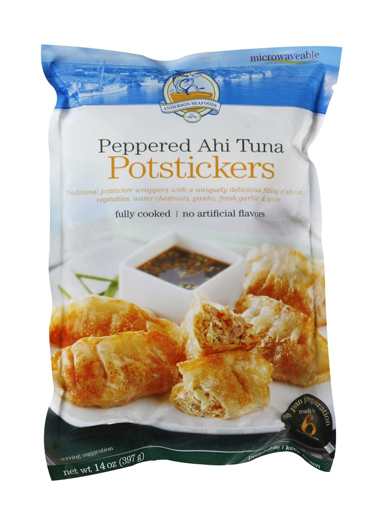 Peppered Ahi Tuna Potstickers