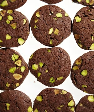 Chocolate-Pistachio Slice-and-Bake Cookies: I made these for Christmas. These cookies are the perfect salty-sweet cookie, I loved them!