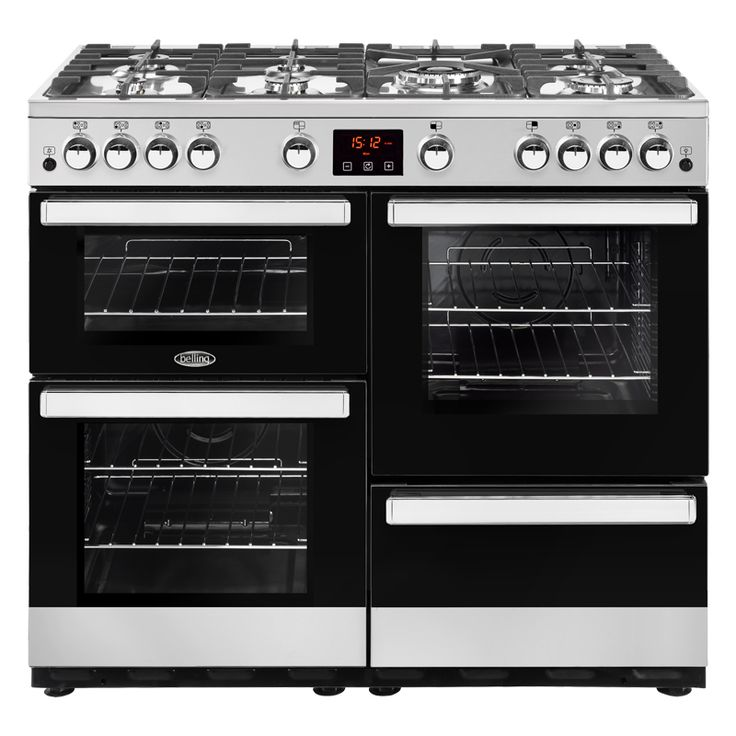 Belling Cookcentre 100G Gas Range Cooker - The Belling Cookcentre 100G, finished in a shiny stainless steel, is a modern British-made Gas range Cooker that will complete any kitchen. The Cooker comprises of seven gas burners, one of which is a http://www.MightGet.com/february-2017-2/belling-cookcentre-100g-gas-range-cooker-.asp