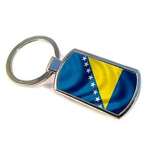 Premium-Key-Ring-with-Flag-of-Bosnia-And-Herzegowina