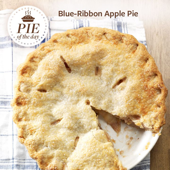 Blue-Ribbon Apple Pie Recipe from Taste of Home -- shared by Collette Gaugler, Fogelsville, Pennsylvania