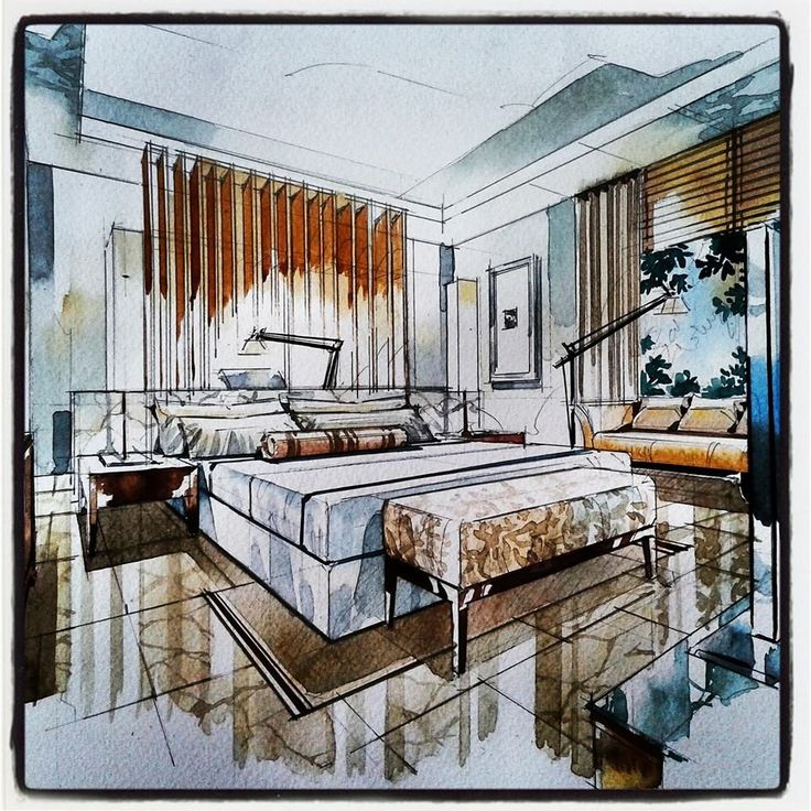 Interior Design Bedroom Sketches 758 best room sketch images on pinterest | architecture, sketch