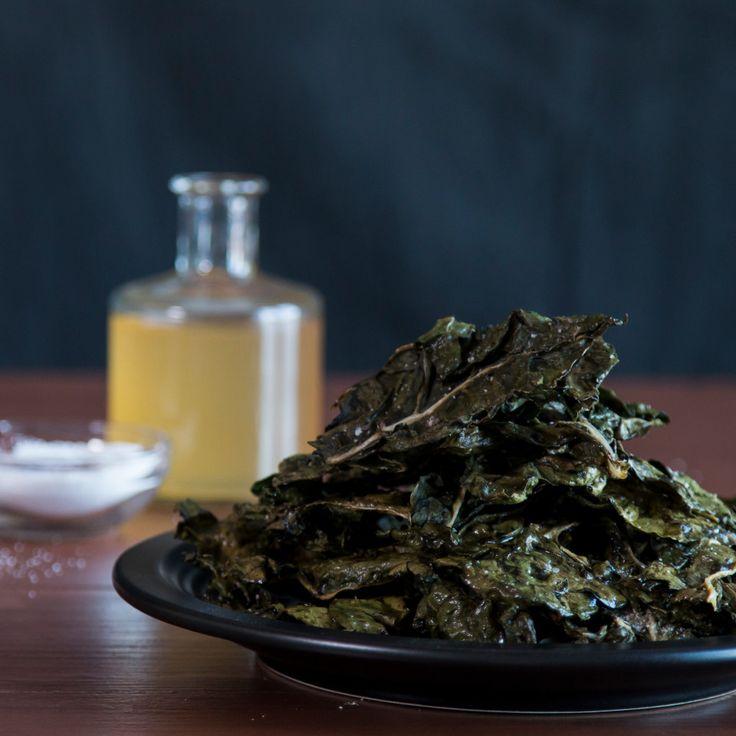 Salt And Vinegar Swiss Chard Chips