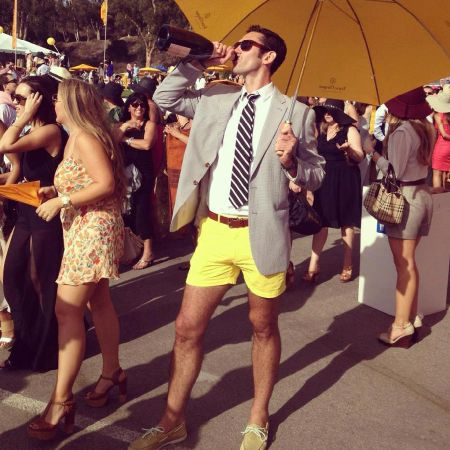 I want her dress...and heels!  The Look | Chubbies Shorts