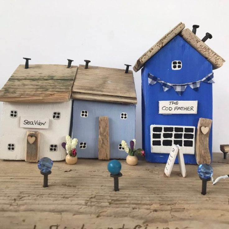 Little Driftwood Wood Houses • Fish and Chips • Recycled ...