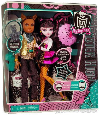 Monster High 2 Pack - Draculaura & Clawd Wolf - $59.99