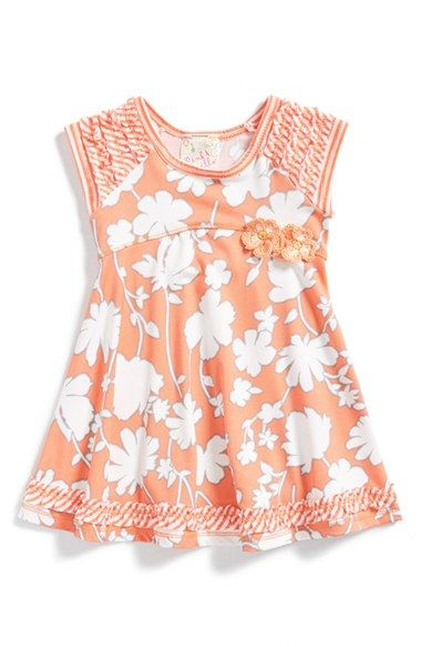 Pink Vanilla Floral Print Tank Dress (Baby Girls) available at #Nordstrom