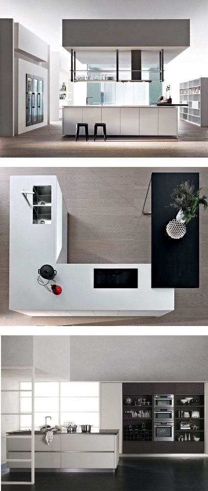 #kitchen with island HI-LINE 6/HI-LINE by DADA | #design Ferruccio Laviani @moltenidada