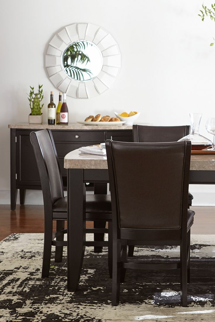 Our whitney dining table is the perfect combination of for Dining room tables havertys