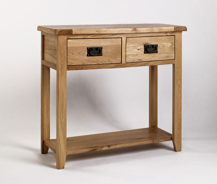 This console table provides the perfect stylish accent to your living room or entry way. Console tables are traditionally used to display decorative items or are placed by the front door to hold keys, mail and other small items. This beautiful piece has the added benefit of two drawers and a shelf at the bottom for storage, marrying style with utility. Only £195.