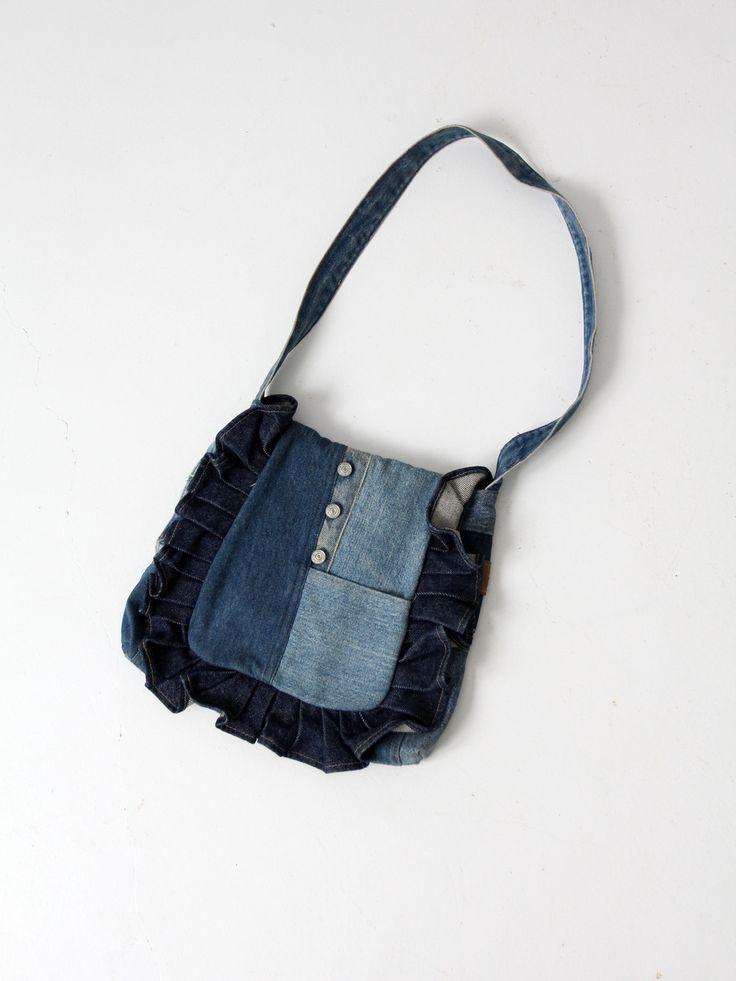 vintage 70s denim purse