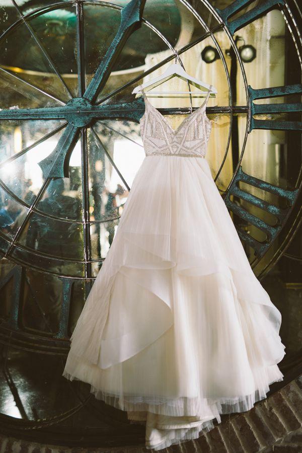 wedding dress - photo by Joey T Photography http://ruffledblog.com/modern-industrial-art-deco-editorial