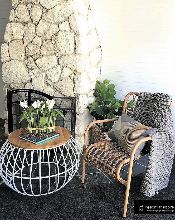 Life is better by a fireside #designstoinspire #living #fireside #lounge