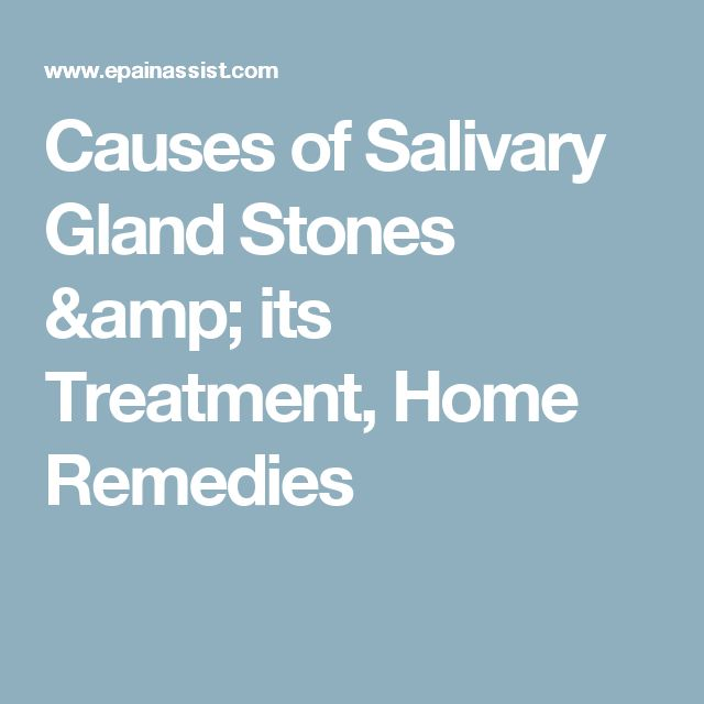 Natural Treatment Salivary Stones