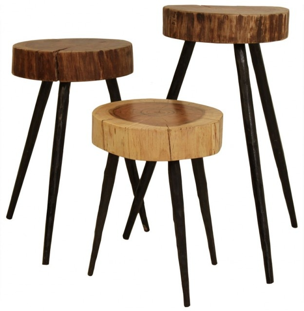 Cobble Hill Terra Stools/Side Tables: Living Rooms, Side Tables, Rustic Table, Breakfast Bar, Bar Chairs, End Tables, Bar Stools, Accent Tables, Trees Stumps