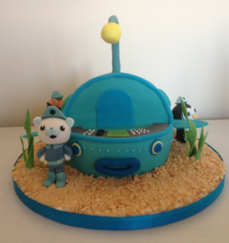 Octonauts cake with gup a, captain barnacles, kwazii and peso