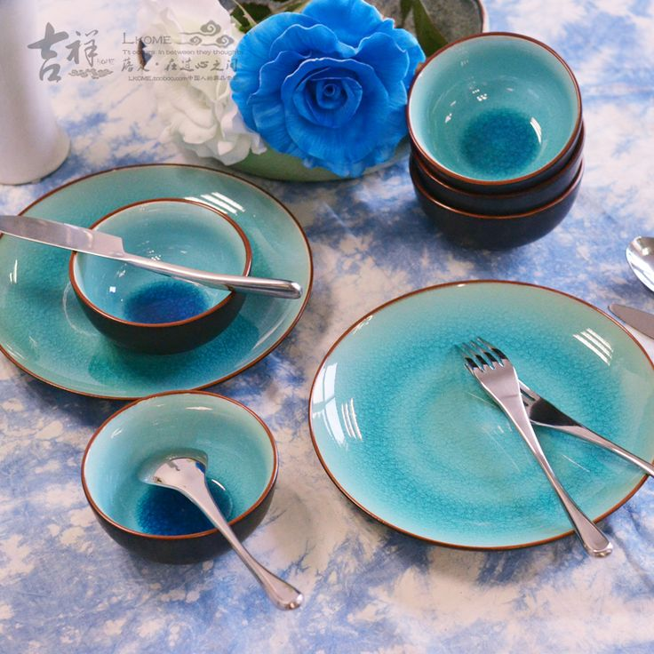 Cheap Dinnerware Sets on Sale at Bargain Price, Buy Quality plates blue and white, plate stand, cake line from China plates blue and white Suppliers at Aliexpress.com:1,Model Number:LH-2 2,Ceramic Type:Porcelain 3,Technique:Crackle Glaze 4,Certification:CIQ 5,Pattern Type:Solid