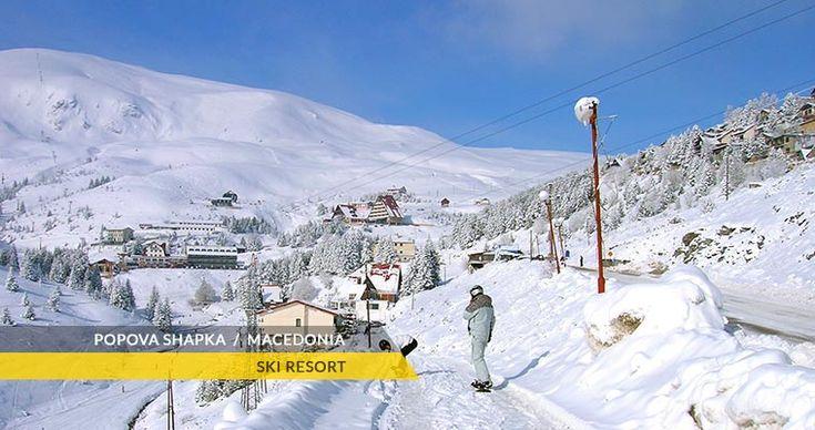 High above #Tetovo on the Sar Mountain, there is the Popova Sapka ski resort (Popova Šapka, Popova Shapka), a major winter ski destination in north-western #Macedonia. Popova Sapka is part of the wider Tetovo region and minucipality. #shareMacedonia #Europe #Balkans #ski #tourism