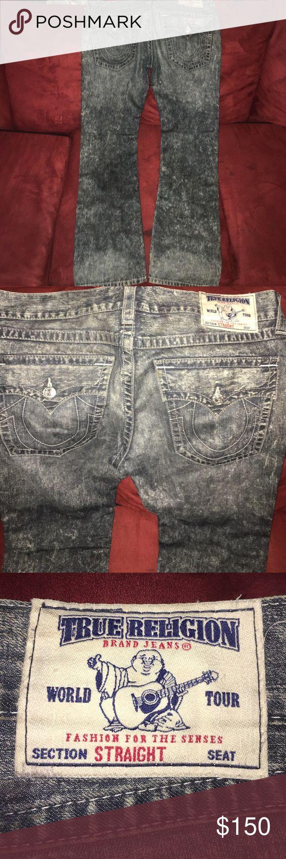 True Religion Men's Jeans True Religion Men's Jeans....like new...size 34 ....dark denim acid wash True Religion Jeans Straight