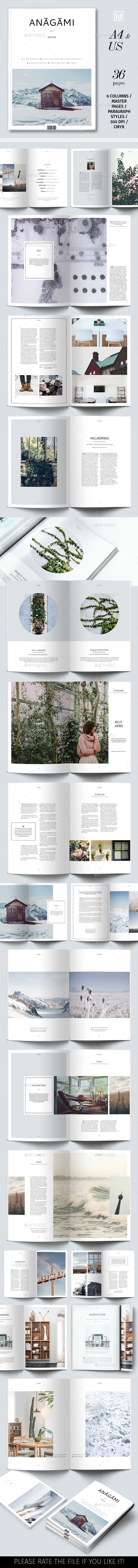 Anagami #Magazine Template - Magazines #Print #Templates Download here: https://graphicriver.net/item/anagami-magazine-template/19334749?ref=alena994