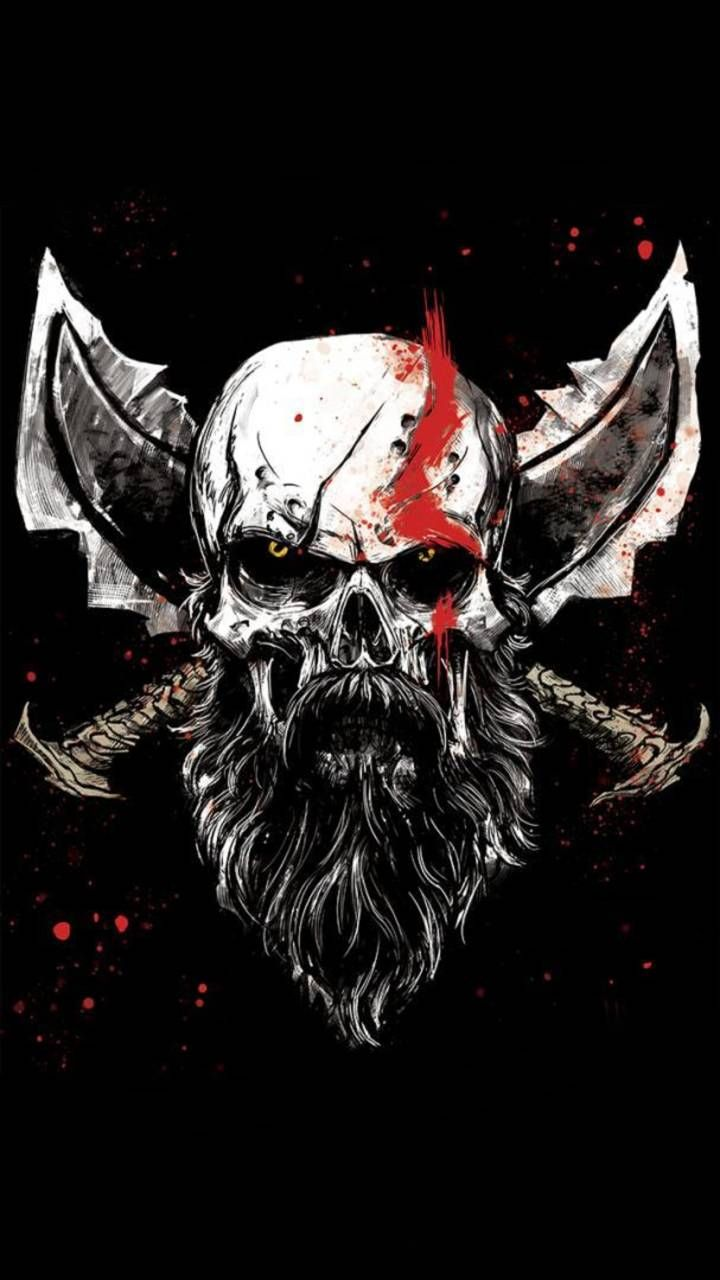 Download God Of War Skull Wallpaper By Lemacsp 83 Free On Zedge Now Browse Millions Of Popular Games Wallpapers A God Of War Kratos God Of War War Tattoo