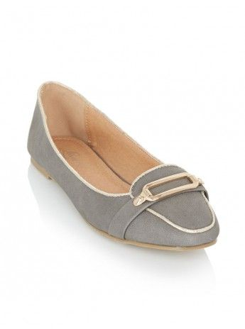 Pumps with gold trim Grey 70