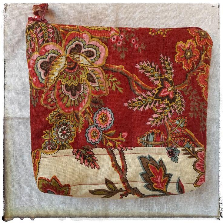 Pochette realizzata con i tessuti della collezione PUMPKIN PIE by TTS Moda Fabrics