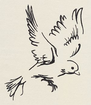The Menagerie - Flying design (UT10515) from UrbanThreads.com