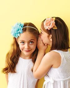 Handmade flower headbands for your flower girl that won't wilt by the reception.
