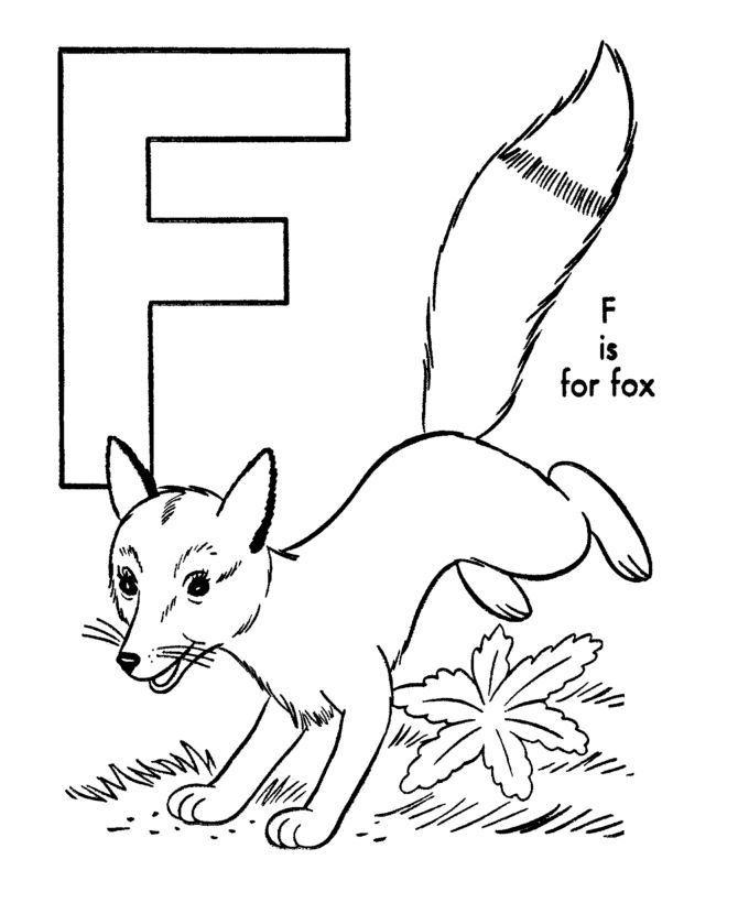 abc alphabet coloring sheets abc fox animal coloring page