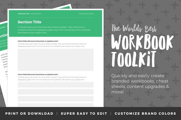 Workbook Toolkit Vol 2 by Authority on @creativemarket