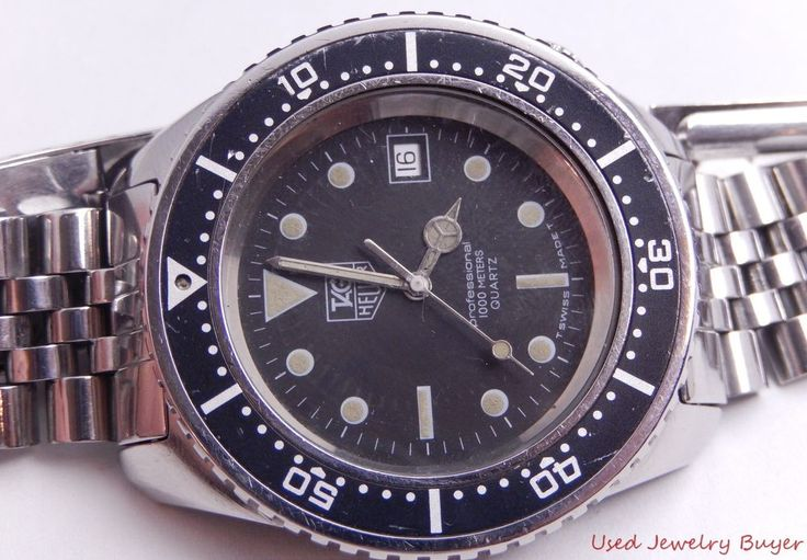 117 best watches images on pinterest wristwatches watch service and 18k gold for Tag heuer divers watch