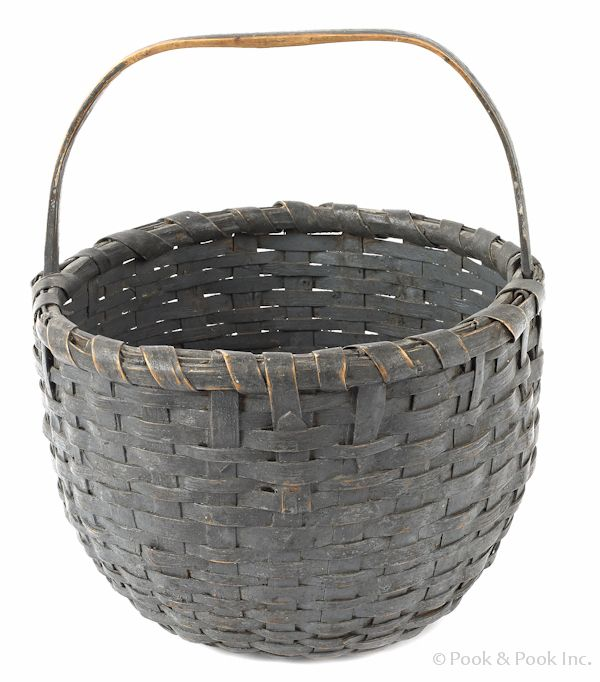 Basket retaining its old blue gray color