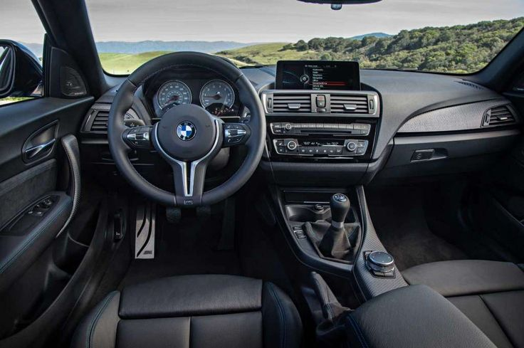 If you should somehow miss the M logos BMW's sprinkled throughout the M2, the 200-mph speedometer and 8,000-rpm tachometer are clues that you're in a car that's at home on a track. Photo: BMW