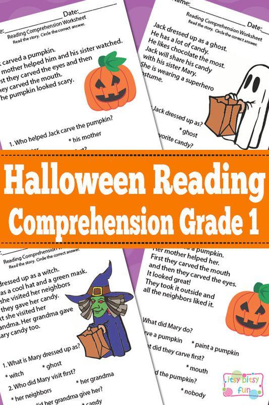 Halloween Reading Comprehension for Grade 1