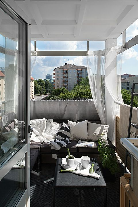 outdoor, patio, balcony, black, white