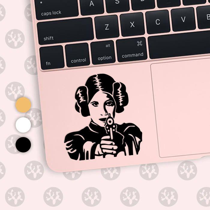 princess lea, princess lea decal, princess lea vinyl, princess lea sticker, lea, star wars decal,  storm trooper decal, star wars  macbook by CactusDesignsCo on Etsy
