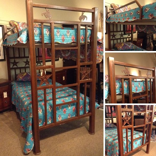 Bunk Bed - Custom-Made Rustic Wrought Iron Bunk Bed w/ Bunkie Board  - $808.95