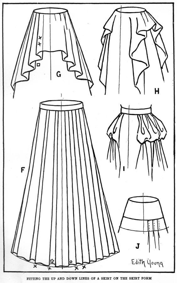 folds in skirts