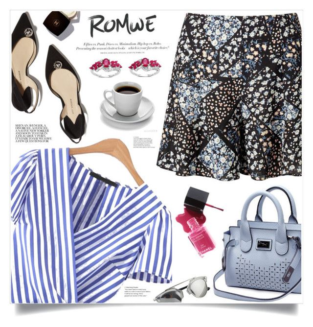 """ROMWE"" by itsybitsy62 ❤ liked on Polyvore featuring Miss Selfridge, H&M, Chanel and Malaika"