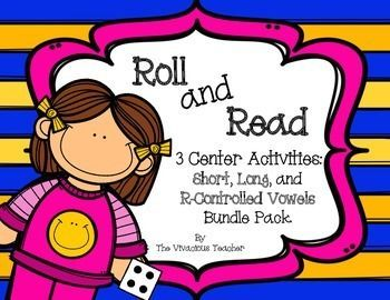 Roll and Read Phonics Die Games for Short Vowels, Long Vowels, and R-Controlled Vowels by The Vivacious Teacher (Grades 1-3)