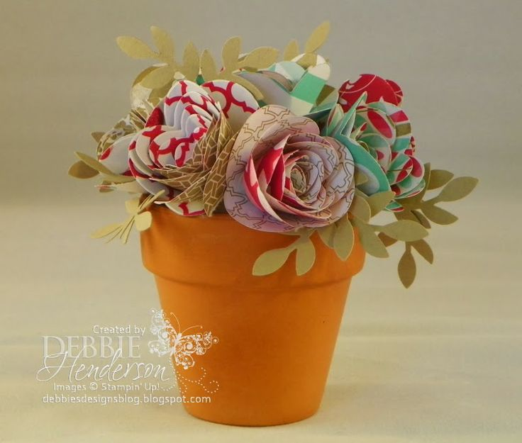 295 best paper flowers images on pinterest paper flowers paper debbies designs spiral flower in a terracotta mightylinksfo Choice Image