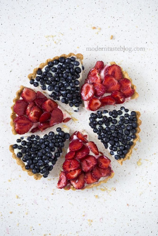 strawberry and blueberry tarts | Tarts, Blueberry and Pies