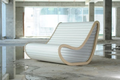 Tenenbaum Hazan industrial design have created a chair by repurposing old roller blinds. Love it for its elegance and simplicity.    #Reuse #Rethink #Recycle #Furniture