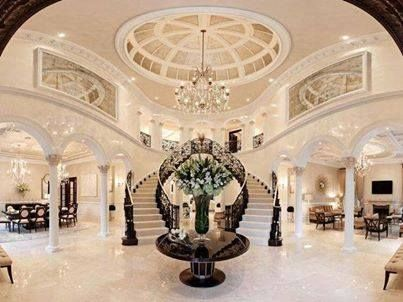 Unique entrance hall of a luxurious house or hotel | http://www.love-decor.info/unique-entrance-hall-of-a-luxurious-house-or-hotel/ Luxury Hotel Interior Designs #hotelinteriordesings